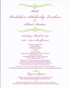 Luncheon Invite 2014